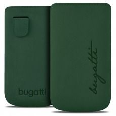 Bugatti® Genuine Leather Pouch Perfect Velvety Cypress Size M