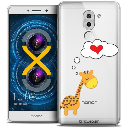 Coque Crystal Gel Huawei Honor 6X Extra Fine Love - Girafe Amoureuse