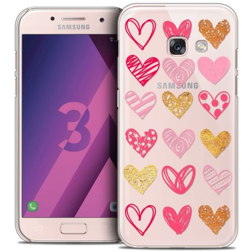 Coque Crystal Samsung Galaxy A3 2017 (A320) Extra Fine Sweetie - Doodling Hearts